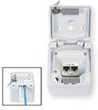 Ip44 industrial work area outlet for 2 sl connectors