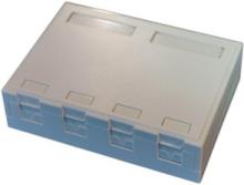 Officebox for 4 x rj45 keystone w shutter