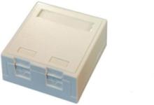 Officebox for 2 x rj45 keystone w shutter