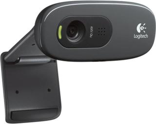 Logitech C270 HD-webkamera 1280 x 720 pix Fod, Klemmeholder
