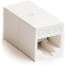 Straight in-line coupler 180° cat 6a unshielded