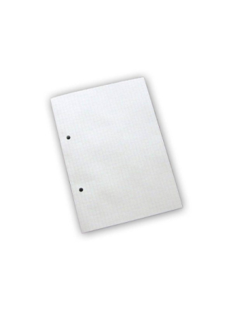 Standard pad 2 holes squared 60grm white a5