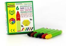 Ekologiska Vaxkritor normallånga 6 st färger