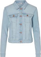 NOISY MAY Short Denim Jacket Women Blue
