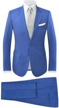 Vidaxl tvådelad kostym herrar strl. 56 kungsblå