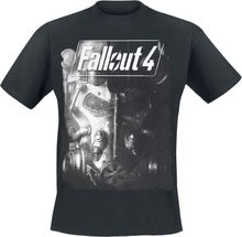 Fallout - 4 - Brotherhood Of Steel -T-skjorte - svart