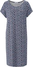 Jerseyklänning rund halsringning från Peter Hahn blå