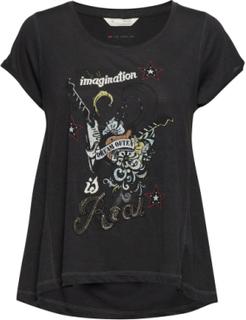 Odd Vibes Tee T-shirt Top Sort ODD MOLLY