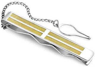 Gentlemen Stilren slipsenål - Gold/Silver