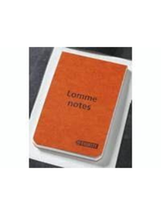 Notepads /orange cover 105x65mm 45551