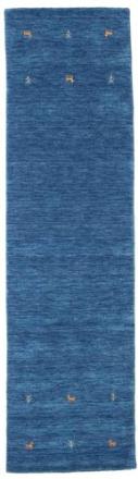 Gabbeh loom Two Lines - Blå matta 80x300 Orientalisk, Avlång Matta