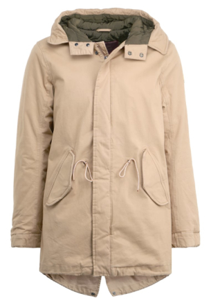 Scotch & Soda LONG HOODED QUILTED Parka sand