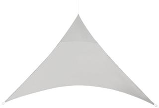 [en.casa]® Soltak-vattenavvisande - trekantig 3m x 3m x 3m ljusgrå