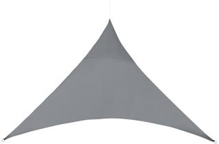 [en.casa]® Soltak-vattenavvisande - trekantig 3m x 3m x 3m mörkgrå