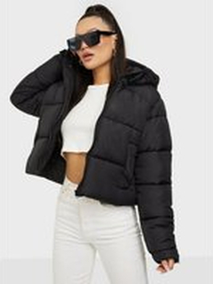 Missguided Hooded Padded Puffer Black