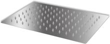 vidaXL Brusehoved rustfrit stål 20x30 cm rektangulær