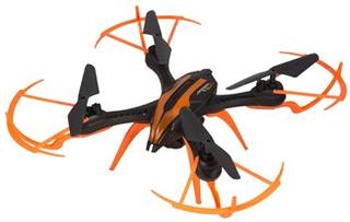 Fjernstyrt Drone med kamera - 35 cm i diameter - svart