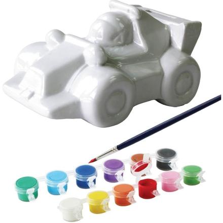 Oliver & KidsMal sparegris i porselen, Racerbil