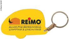 Nøkkelring campingvogn med Reimo-Logo, ca 5 cm