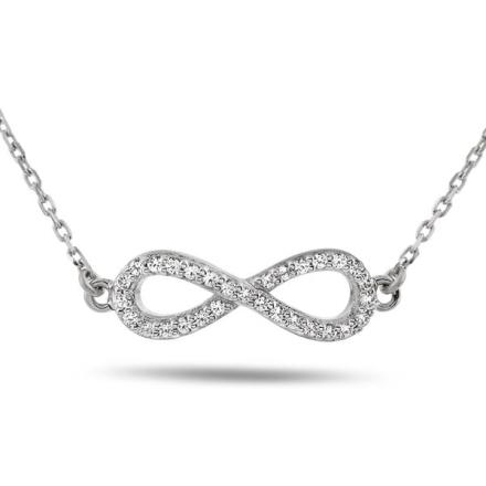 Sølv infinity armbånd med zircon