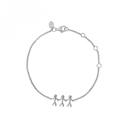 Together - Family bracelet 3 - silver