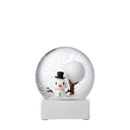 Hoptimist -Snowman Snow Globe