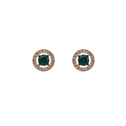 Miss Miranda earrings - Emerald (gold)