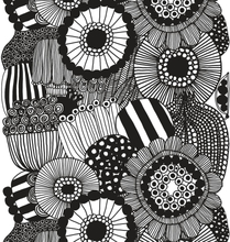 Siirtolapuutarha tyg vit-svart