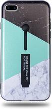 Modeskal med fingerhållare till iPhone 7/8 Plus med marmor i tre olika motiv