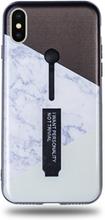 Modeskal med fingerhållare till iPhone X/XS med marmor i vinklar