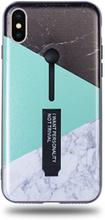 Modeskal med fingerhållare till iPhone X/XS med marmor i tre olika motiv