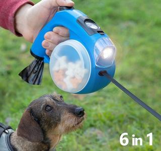 6-i-1 uttrekkbar hundebånd med lys