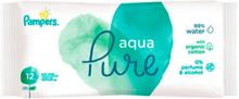 Pampers Aqua Pure Natte Doekjes - 12 stuck