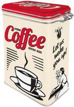 Plåtburk Kaffeburk 'Strong Coffee Served Here'