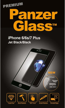 Apple iPhone 6/6s/7/8 Plus - Jet Black (Premium Glass)