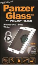 Apple iPhone 6/6s/7/8 Plus - Privacy White (Premium Glass)