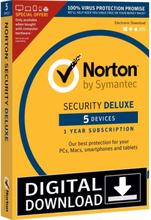 Norton Security Deluxe 3.0 (5 user - 1 year) - Nordisk Elektronisk