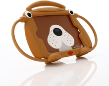 iPad Mini 1/2/3/4/5 Børne Cover - 3D Cover m. Hunde Design - Brun