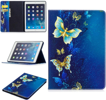 "iPad Air Cover - ""Blue Butterfly"" Cover m. Ståfunktion & Kortholder - Blå"