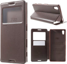 Sony Xperia Z5 ROAR Noble View Etui m. Pung Brun