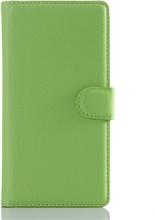 Sony Xperia Z5 Soft Pouch Læder Etui m. Pung Grøn