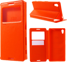Sony Xperia Z5 ROAR Noble View Etui m. Pung Orange