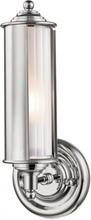 Classic no. 1 Væglampe i messing og glas H31,1 cm 1 x E27 - Poleret nikkel/Frostet