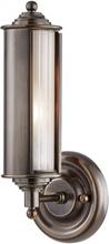 Classic no. 1 Væglampe i messing og glas H31,1 cm 1 x E27 - Antik bronze/Frostet