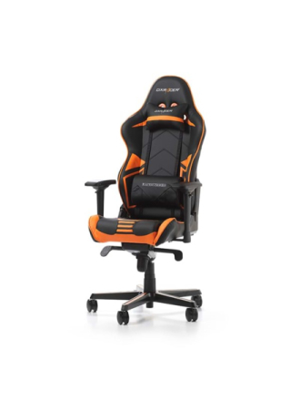 RACING PRO R131-NO Krzes?o gamingowe - Czarno-pomara?czowy - Skóra PU - Do 115 kg