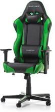 RACING R0-NE Krzes?o gamingowe - Czarno-zielony - Skóra PU - 100 kg