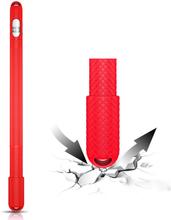 Apple Pencil anti-slip silikon veske - Rød
