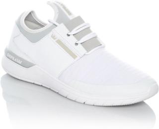 Supra vitt ljus grå flöde köra sko Vit 11 UK