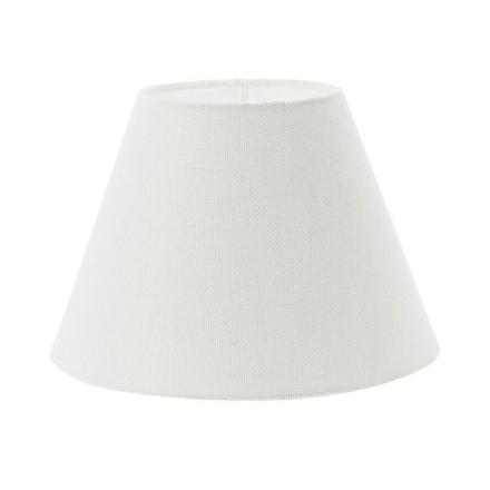 Plain Linen, Lampeskjerm 26 cm, Rund, Hvit