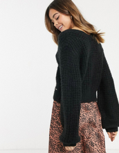 Abercrombie & Fitch relaxed cosy cardigan-Black